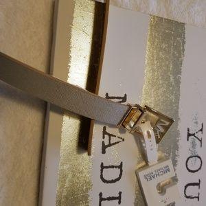 MICHAEL Michael Kors Accessories - Gold/Rose Gold Michael Kors Reversible Belt